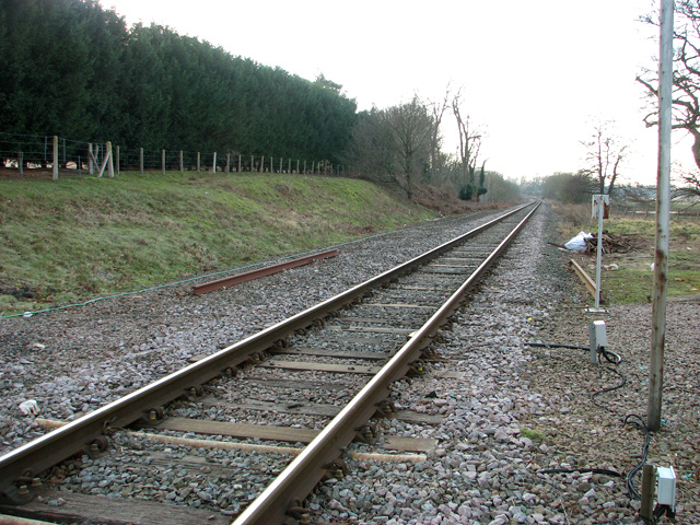 View along the railway line at Beversham Crossing