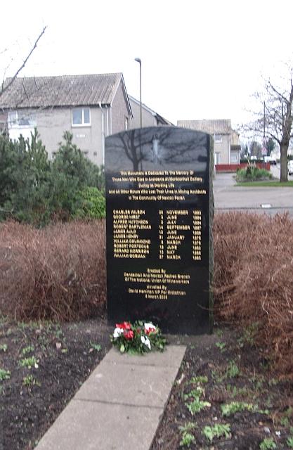 Monktonhall mining memorial