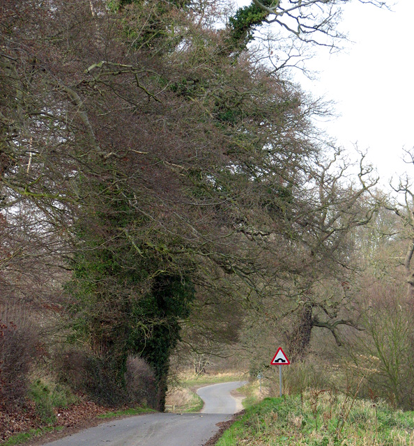 Approach to Little Glemham on Tinker Brook