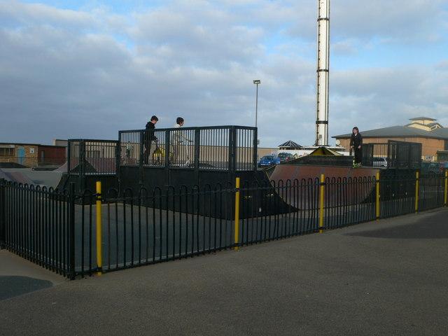 Skateboard park on Rhyl's promenade