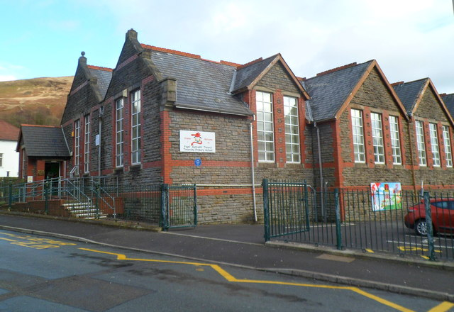 Western side of Treorchy Primary School