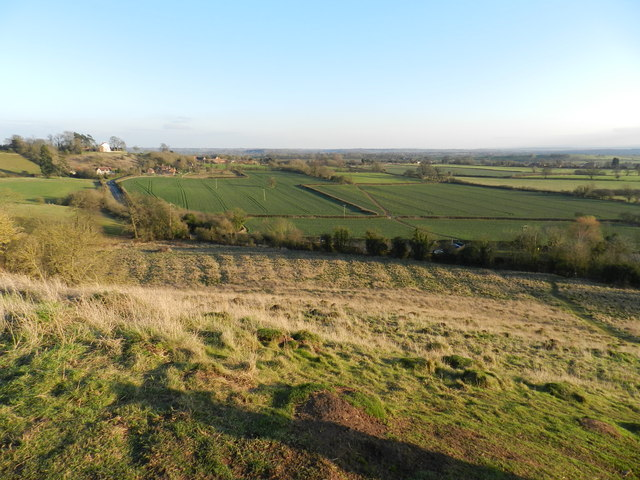 The view from Hanbury Church Hill