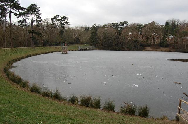 Frozen Buckshole reservoir