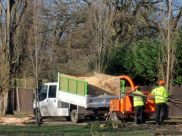 Shredding Machine, Oakwood Park, London N14