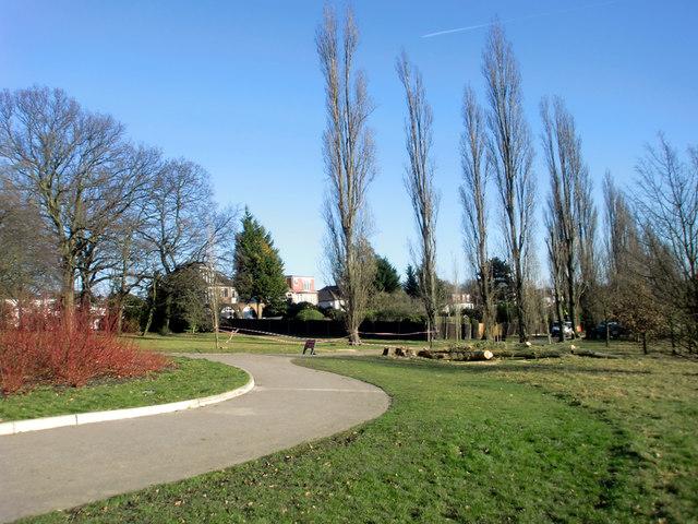 Looking East in Oakwood Park, London N14