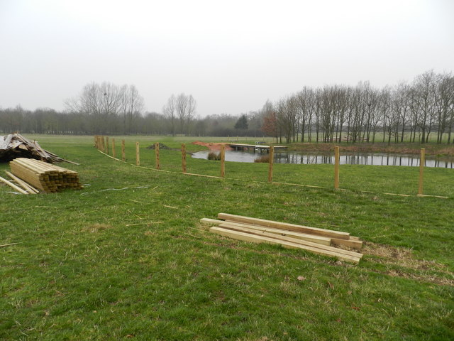 Pond about to be fenced in