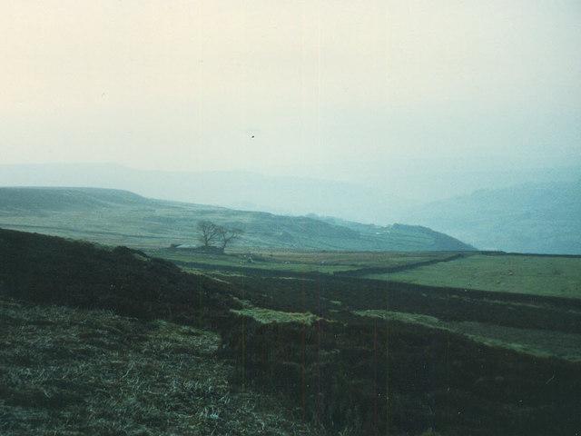 Moorland above Nelmires