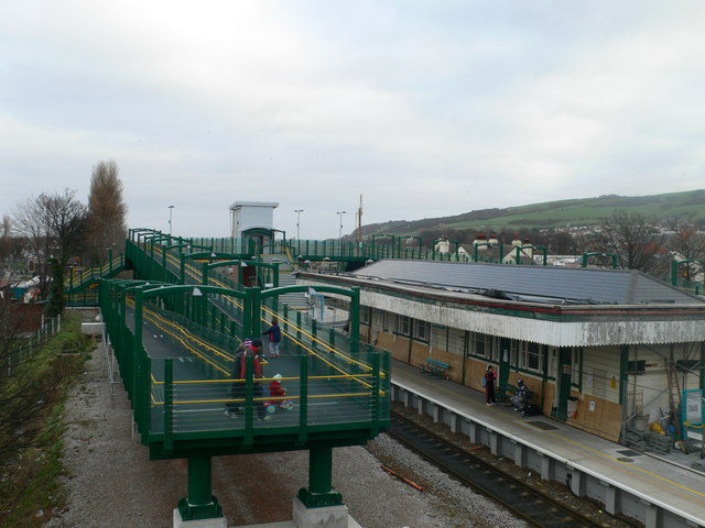 New pedestrian access bridge at Prestatyn Railway