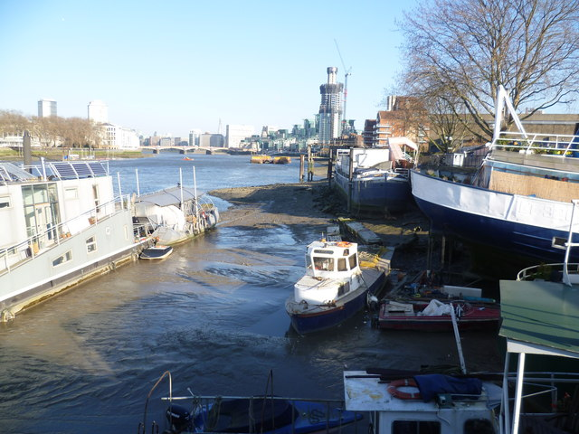 View from Nine Elms Pier