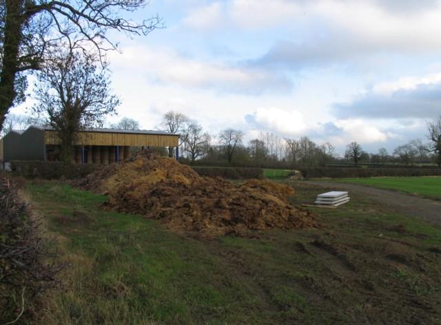 Barns and muck heap