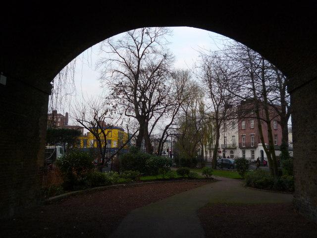 Through the arch, Camden Gardens NW1