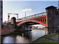 SJ8297 : Bridgewater Canal, Railway Bridge at Castlefield by David Dixon