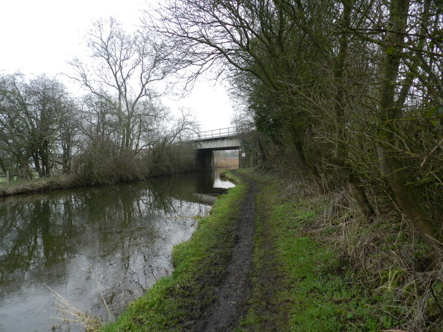 Railway line crossing canal