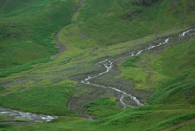 Alluvial fan in Glencoe