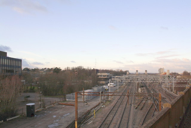 Bletchley Station from the Bletchley Flyover