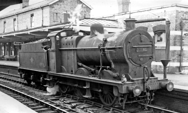 Ex-Midland Fowler 4F 0-6-0 at Gloucester Eastgate