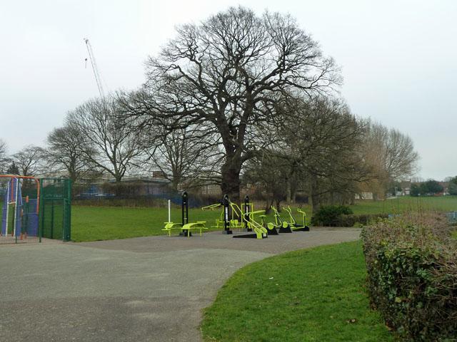 Exercise apparatus, Queenscroft recreation ground