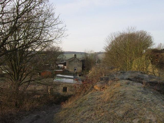 Black Hey Farm, from the former railway line