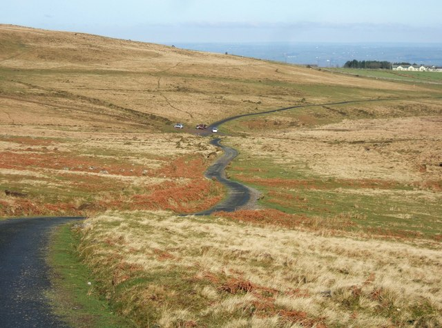 Moorland road to Okehampton