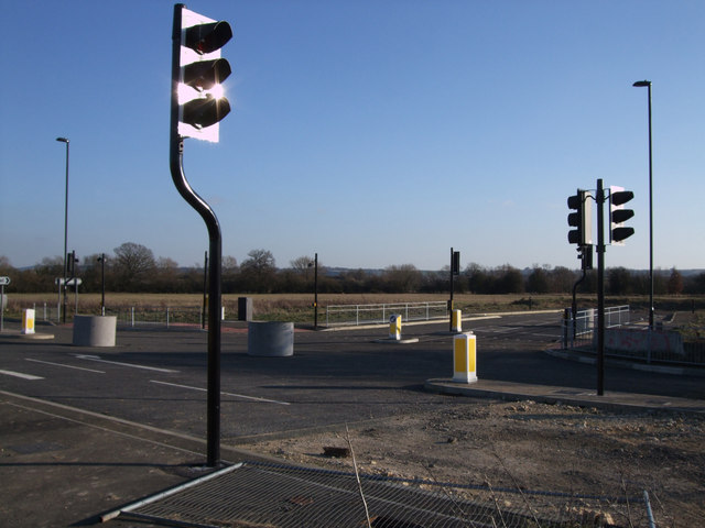 Road under construction linking Wichelstowe and Wootton Bassett