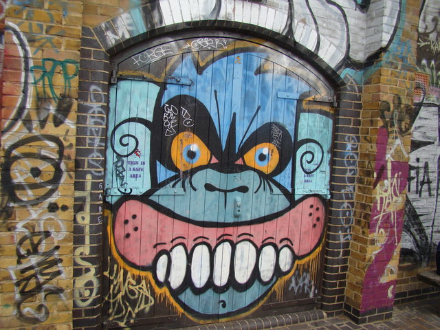 Graffiti on the back of a warehouse on the Regent's Canal