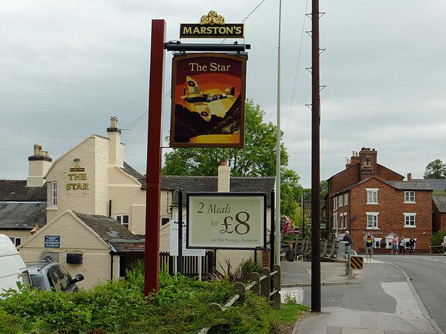 Stafford Road entering Stone, Staffordshire