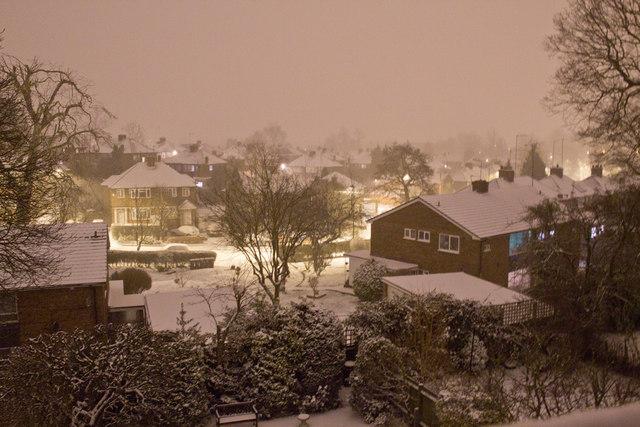 Snow in Oakwood, N14