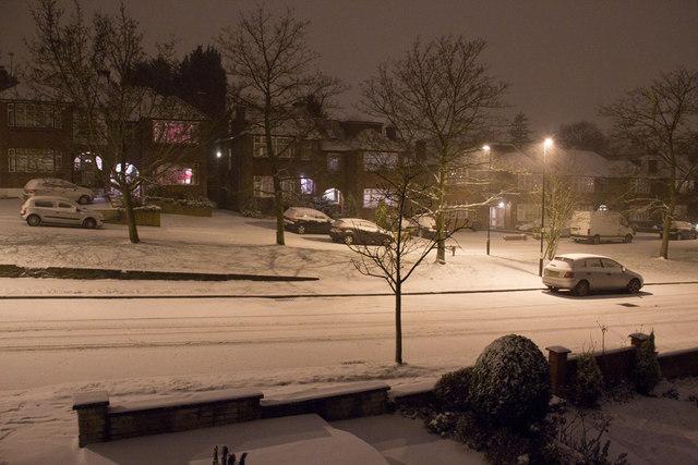 Snow in London N14