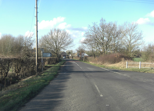 Appledore Road joins the B2067