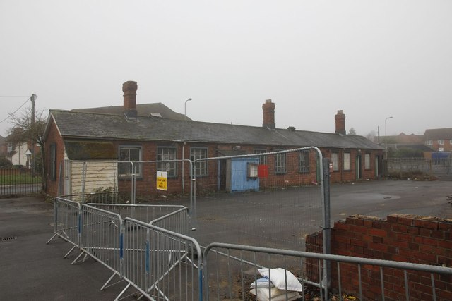 Fenced off buildings