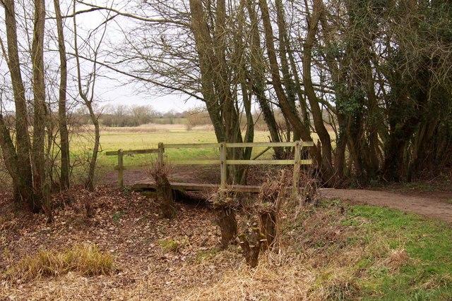 Footbridge over the drain