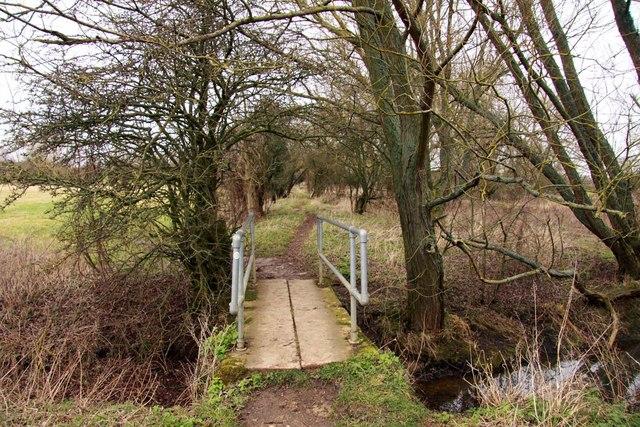 Footbridge over a drain