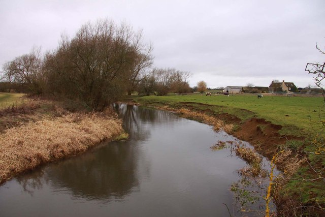 The River Cherwell looking upstream