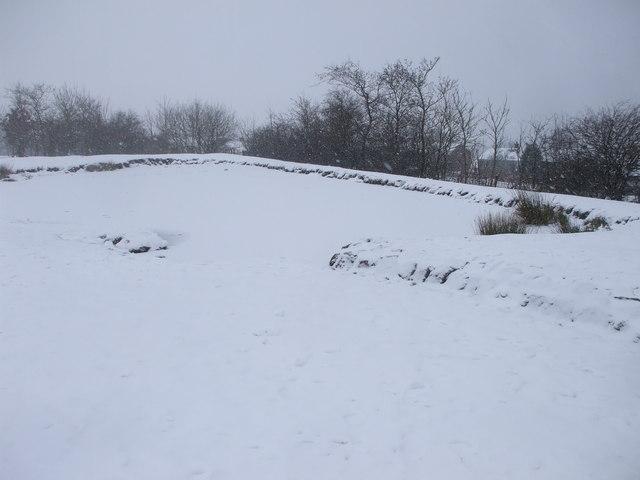 Frozen pond, Dowlais Top