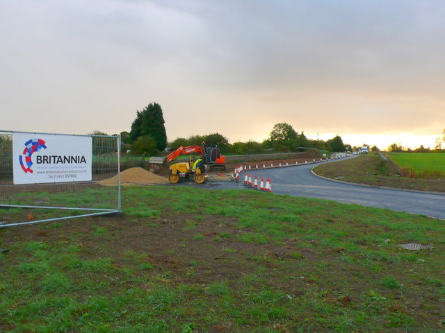 Roundabout Works on Cowcombe Hill