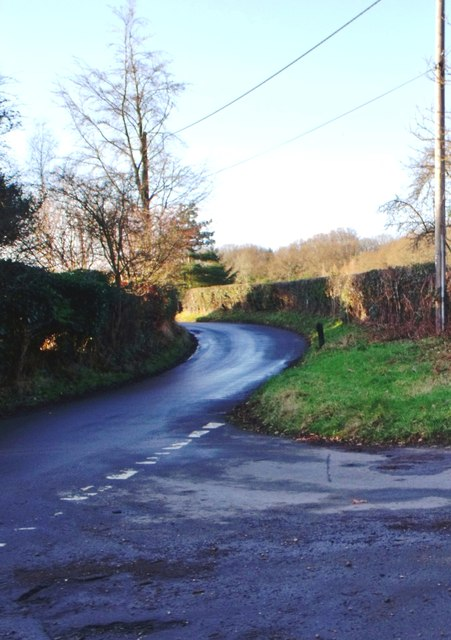 Road junction, Pounsley, East Sussex