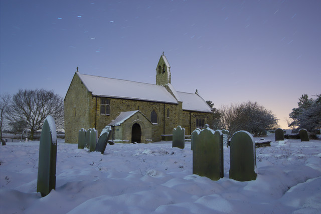 St Mary's Church in the Snow