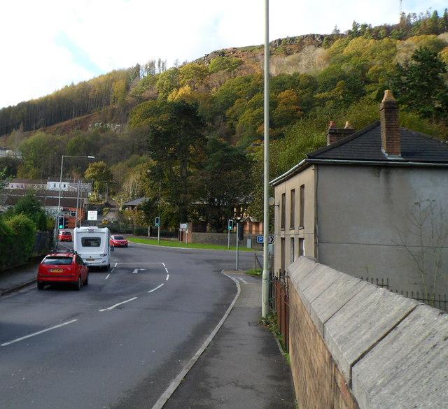 High ground east of Llwynypia