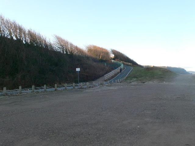 Western end of the car park at Llanddulas
