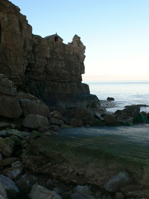 Rocky headland on the North Wales Coast