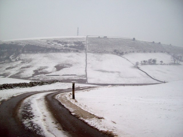 Snow Scene near Higher Barmoor Farm