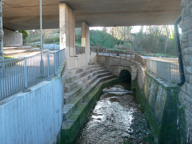 Under the Bridge at Beach Road, Old Colwyn