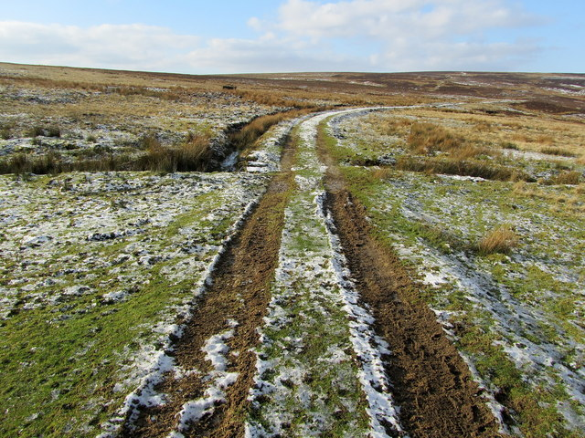 Track leading onto Rocking Moor
