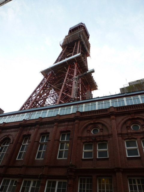 Blackpool: looking up at the Tower
