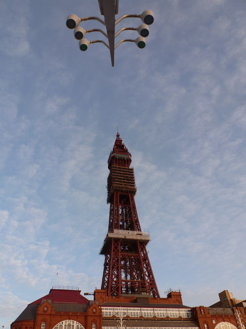 Blackpool: the Tower and some lamps