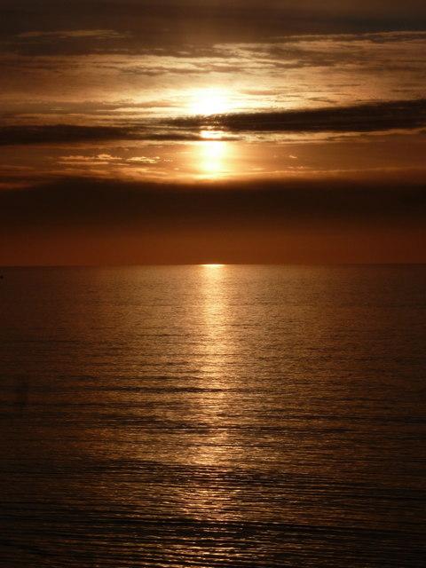 Blackpool: a pretty sunset
