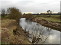 SJ7593 : River Mersey, Flixton by David Dixon