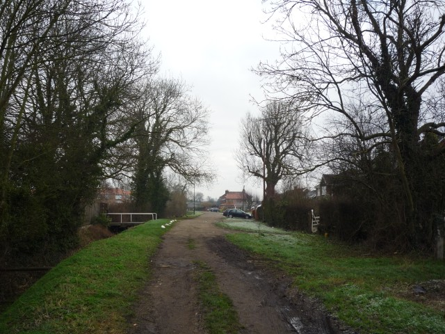 Church Lane enters Appleton Roebuck