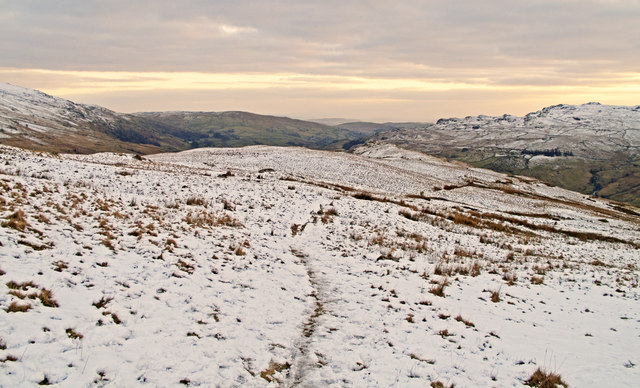 Path descending to Kentmere from Nan Bield Pass