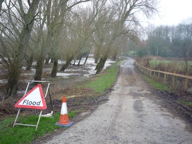 Warning of flooding
